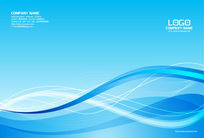 蓝色精美简约画册封面设计模板