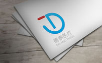 蓝色圆形德泰医疗logo