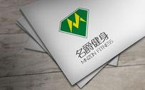 绿色创新名爵健身logo