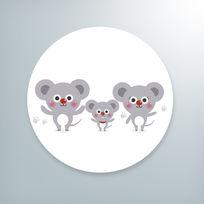 萌萌的卡通老鼠插画