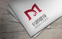 时尚大方名爵健身logo