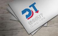双色箭头德泰医疗logo