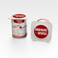 牛奶酸奶食品包装效果VI场景智能贴图模板