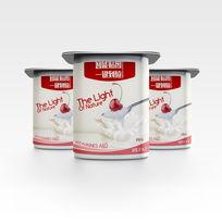 酸奶三杯盒子食品包装效果VI场景智能贴图模板