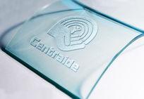 透明玻璃logo标识贴图
