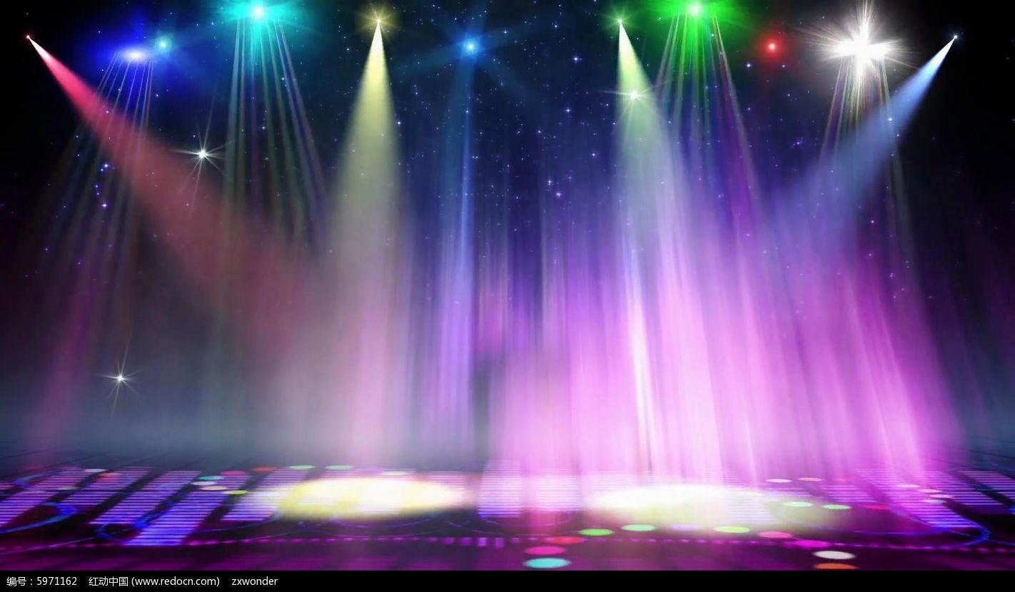 视频_绚丽灯光动感频条舞台视频