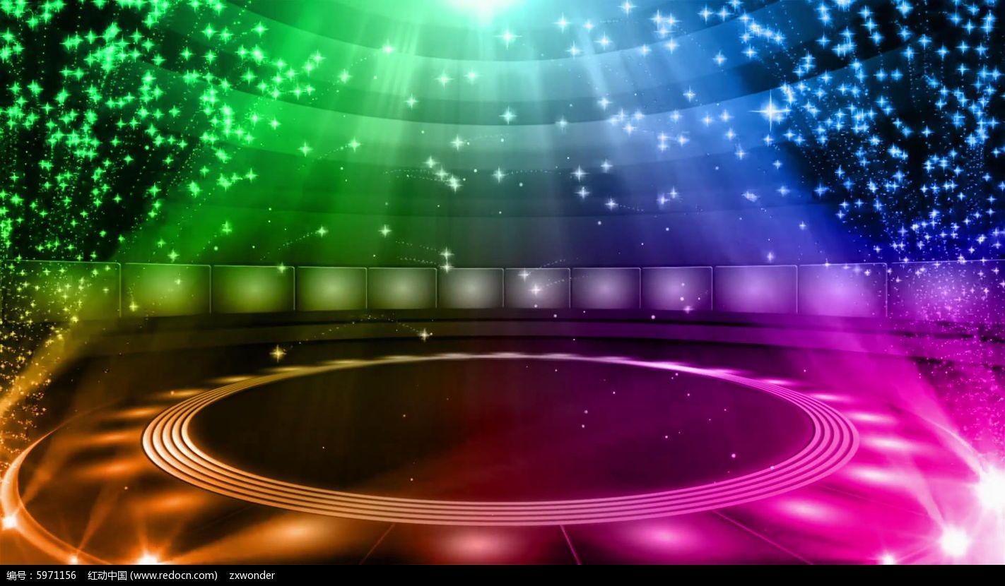 视频_绚丽粒子动感舞台背景视频