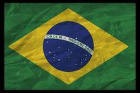 巴西国旗简洁图案装饰画