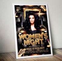女性海报设计妇女节活动宣传海报宣传单页