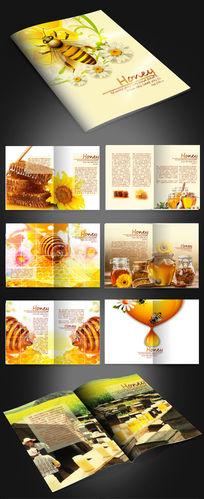 时尚蜂蜜农副产品画册版式设计