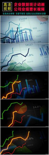 宣传片数据统计业务增长动画视频