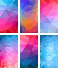 炫彩几何多彩背景立体渐变背景