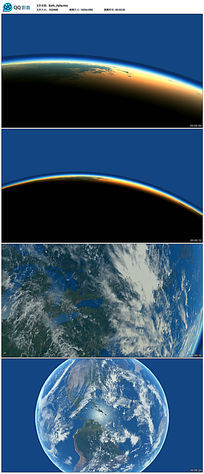 动态地球视频素材带透明通道 mov