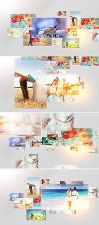 时尚简洁3d立体相片展示ae模板