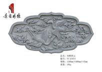 唐语仿古砖雕雕刻工艺品双鹤祥云