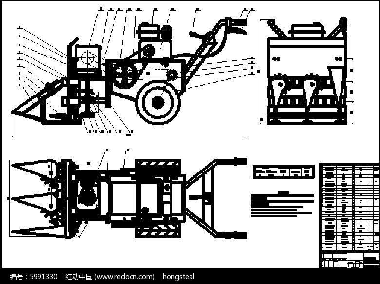 小型稻麦割铺机结构设计