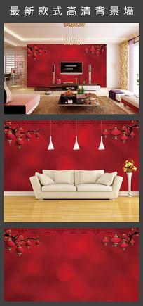红色喜庆背景墙 TIF