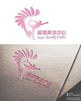 瑜伽美体中心logo标识矢量源文件