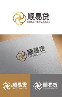 顺易贷金融创意logo