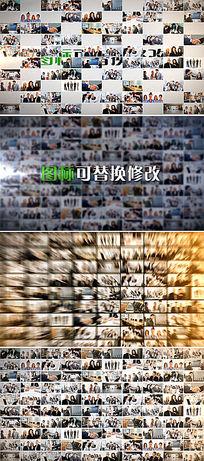 四款多照片汇聚成企业logo图标AE模板