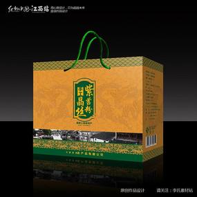 金黄色紫薯粉贡品包装设计
