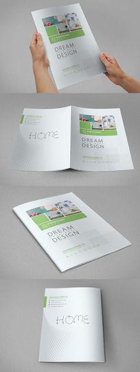 绿色家具画册封面设计