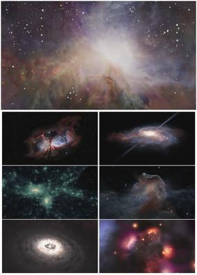 震撼大气云层星空宇宙银河背景视频素材