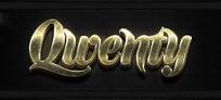 黄金金属立体字