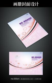 简约粉色线条封面模板