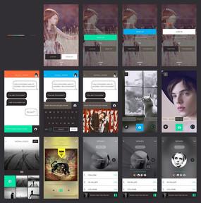 App界面全套UI设计素材 PSD