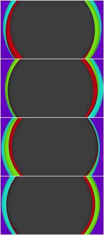 多彩圆形视频边框背景视频素材