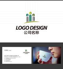 房地产大厦LOGO标志设计 AI