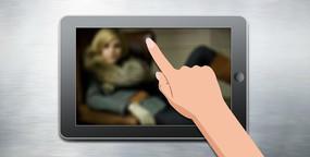 flash片头仿ipad手指滑动轮播动画