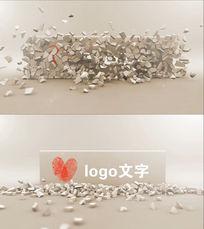 简洁爆炸logo震撼大气logo标志开场片头会声会影x8