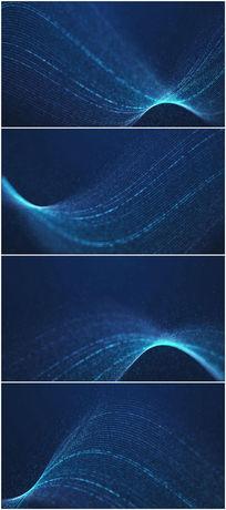 蓝色大气柔美粒子线条背景视频素材