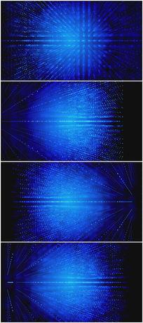 蓝色粒子层空间科技大气背景视频素材
