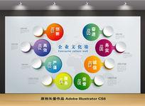 企业文化背景墙设计模板