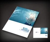 时尚电路板科技封面