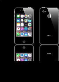 手机iPhone4素材ai文件 AI