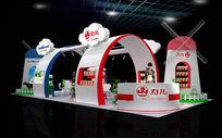 香港力力儿康生物科技集团上海母婴特装展台模型