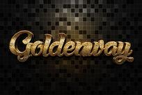 智能导入黄金斑斑金属立体字