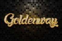 智能导入金色金属立体字