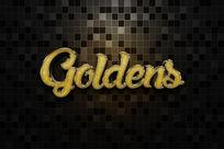 智能导入金色磨砂金属立体字