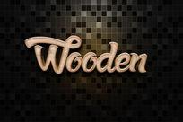 智能导入木制雕刻立体字