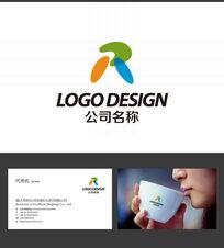 R字母LOGO标志设计 AI