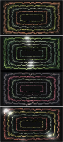 绿色线框闪动背景视频素材