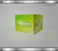 绿色消痘护肤品包装设计