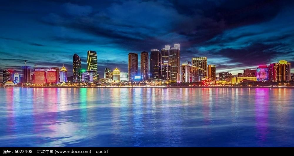 城市夜景 青岛夜景 视频背景 led背景 支持定制
