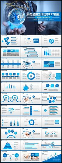 商务工作总结计划销售业绩汇报年度工作报告ppt模板