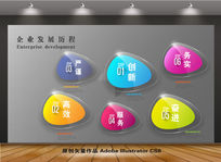 水晶立体企业文化展板背景设计